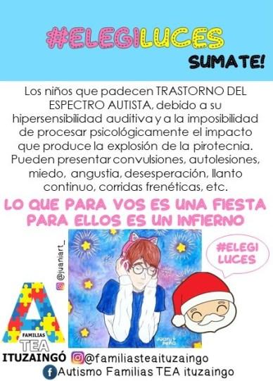 Ituzaingó: Familias TEA organizan una jornada de concientización sobre el no uso de pirotecnia 2