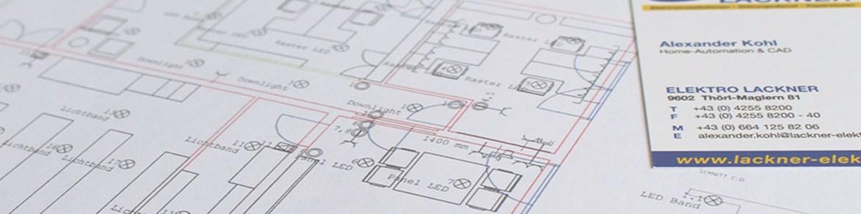 Planung Elektro Lackner Bauträger und Generalunternehmer Elektro