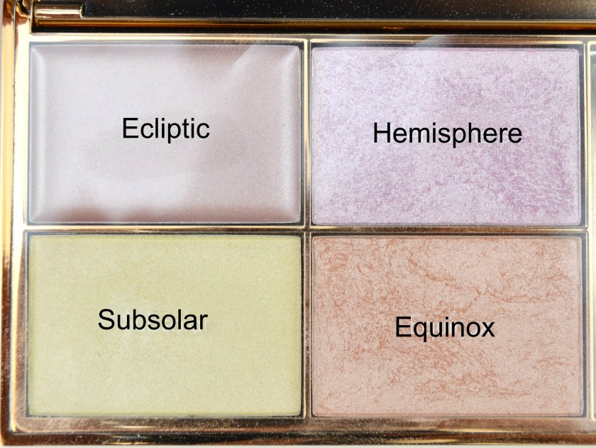 Sleek, MakeUp, Highlighter, Palette, Solstice, Swatch, Swatches