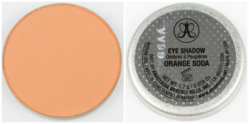 ABH, Anastasia Beverly Hills, Anastasia Beverly Hills Single Eyeshadow, Single, Eyeshadow, Lidschatten, Swatch, Swatches, Review, Erfahrung, Erfahrungen, Erfahrungsbericht, Orange Soda