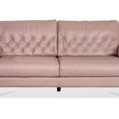 Pink Leather Sofas Sofa And Chairs Set Lacks Couches Thesofa