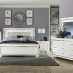 Lacks Allura White 4 Pc Twin Bedroom Set