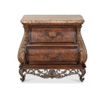 Lacks Birkhaven 2 Drawer Marble Top Nightstand