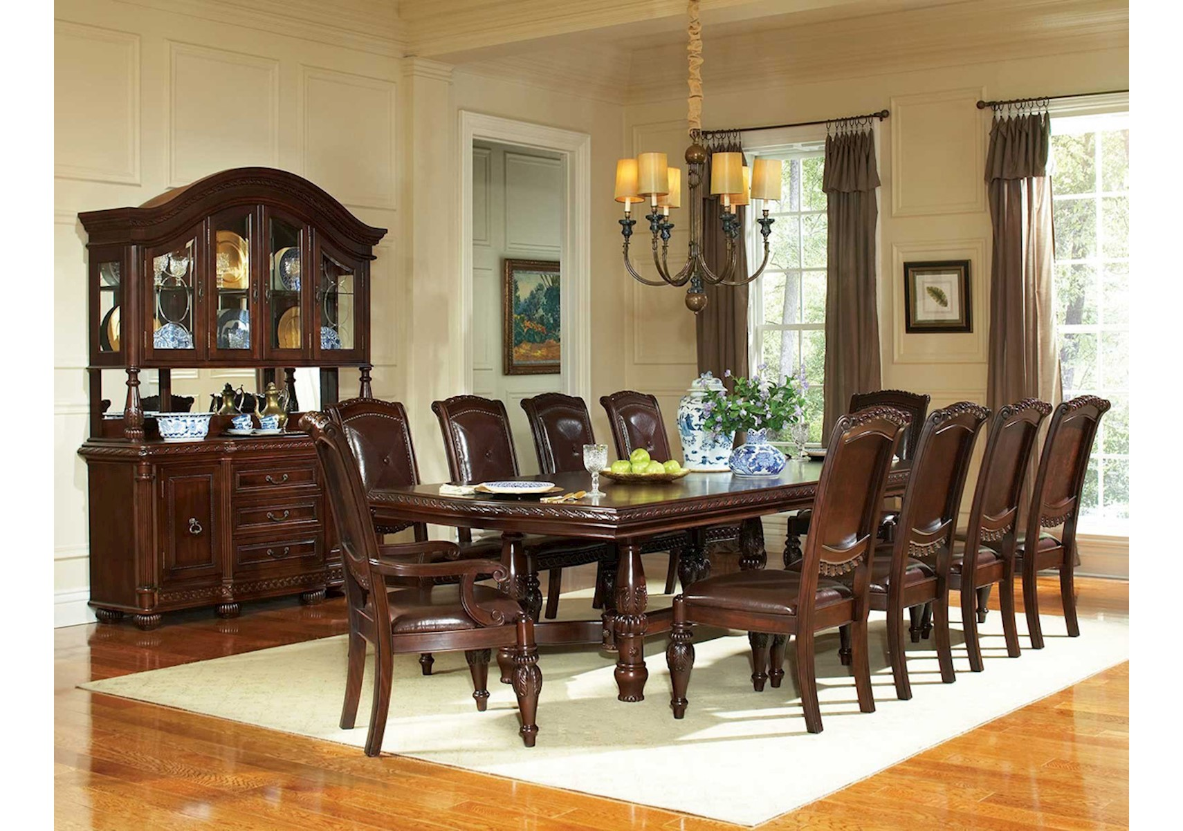 famsa living room sets big and tall furniture lacks antoinette 9 pc dining set