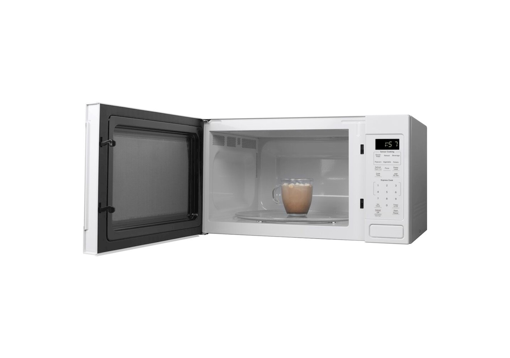 ge 1 6 cu ft white counter top microwave