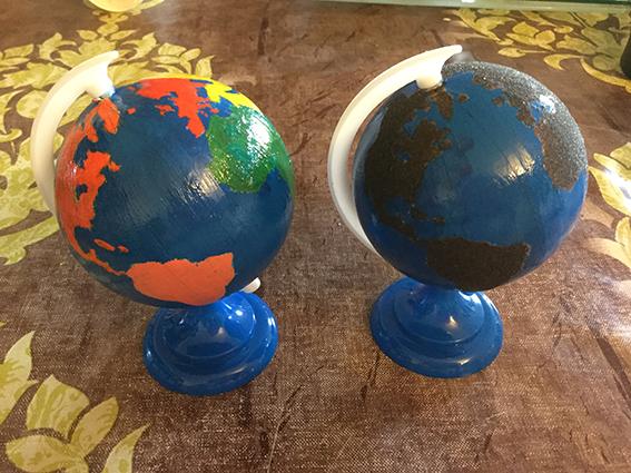 Fabrication des globes Montessori