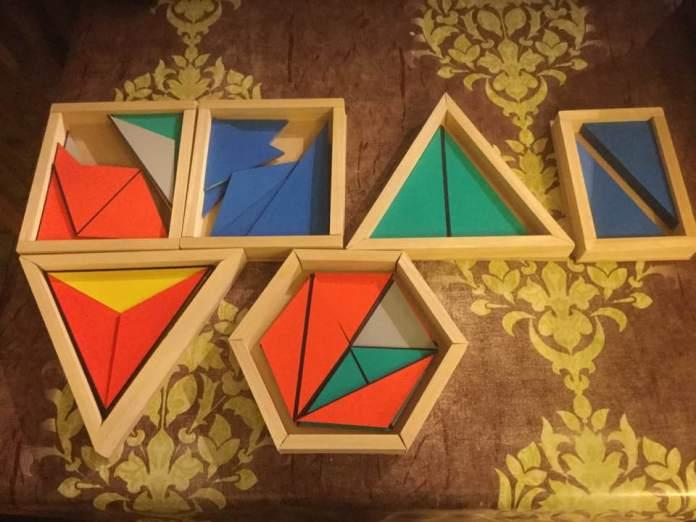 Fabrication des boîtes des triangles constructeurs