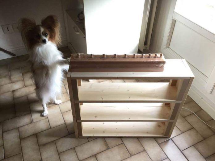 Fabrication d'un petit meuble pour les blocs de cylindres