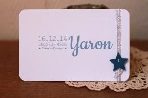 faire-part naissance Yaron