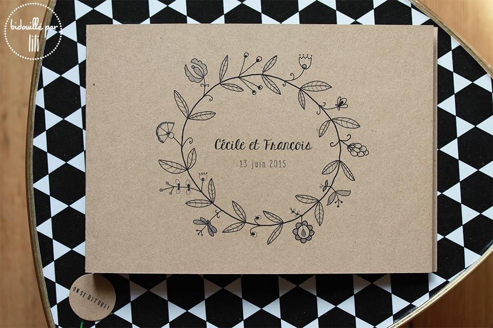 Les livres d'or couronne de fleurs