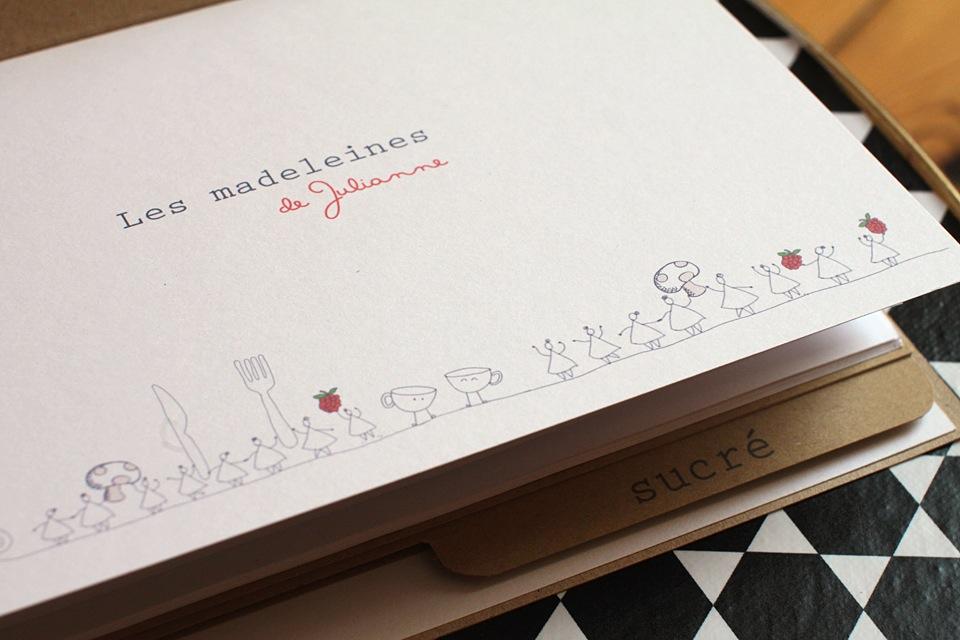 carnet de recettes Les madeleines