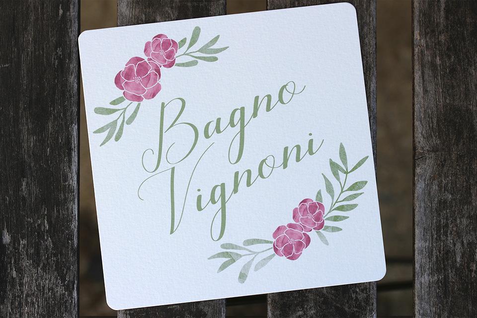 Nom de table mariage Toscane