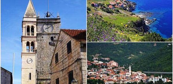 najkrajšie miesta v chorvátsku