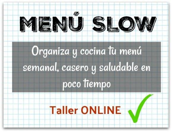 planificar el menú semanal con Menú Slow