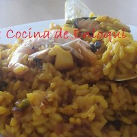 Paella de marisco fácil o arroz con marisco