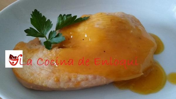 Pavo al estilo oriental en salsa de mandarina
