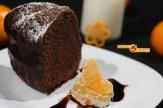Bundt cake de mandarina y cacao