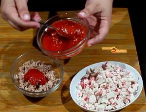pastel frío de atún y surimi