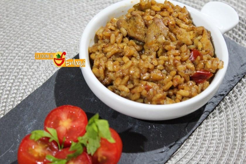 arroz en paella al vino tinto