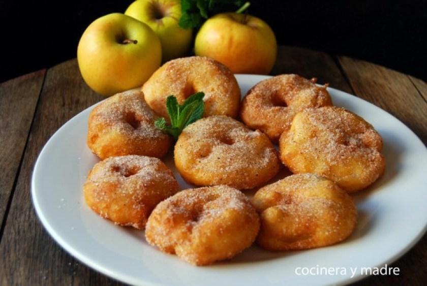 Buñuelos caseros de manzana