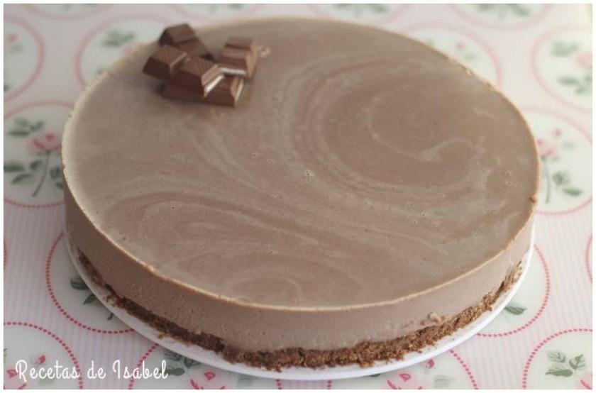 Tarta de chocolatinas kinder sin horno