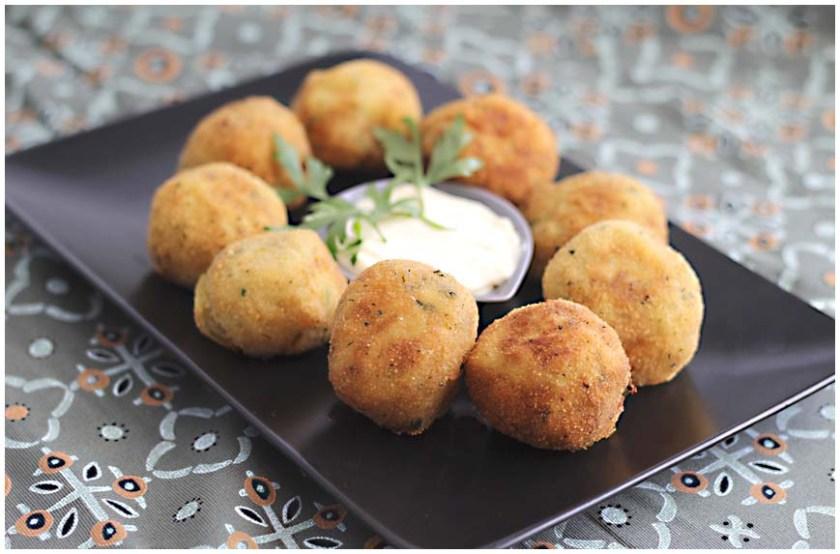 Bolas de patatas y atún