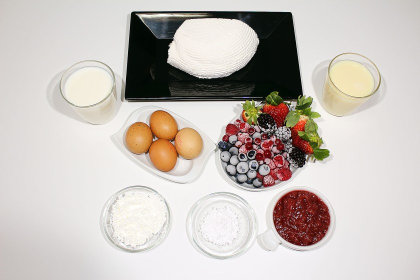 Ingredientes para Tarta de queso o cheesecake tradicional