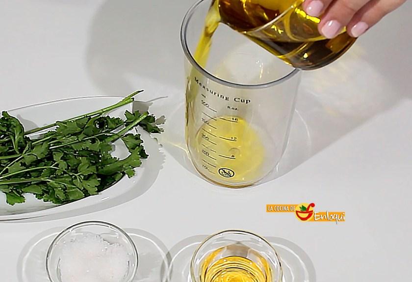 Vinagreta de cilantro
