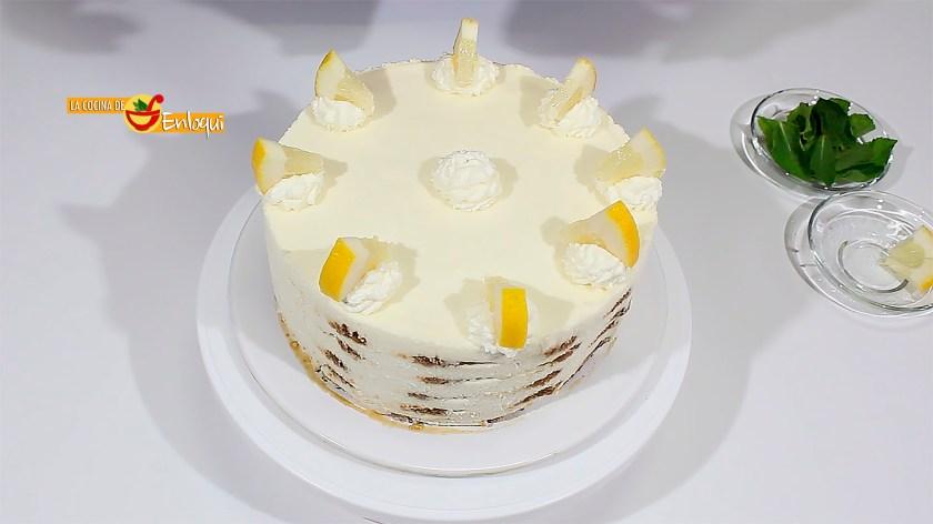 Tarta de limón y galletas lotus