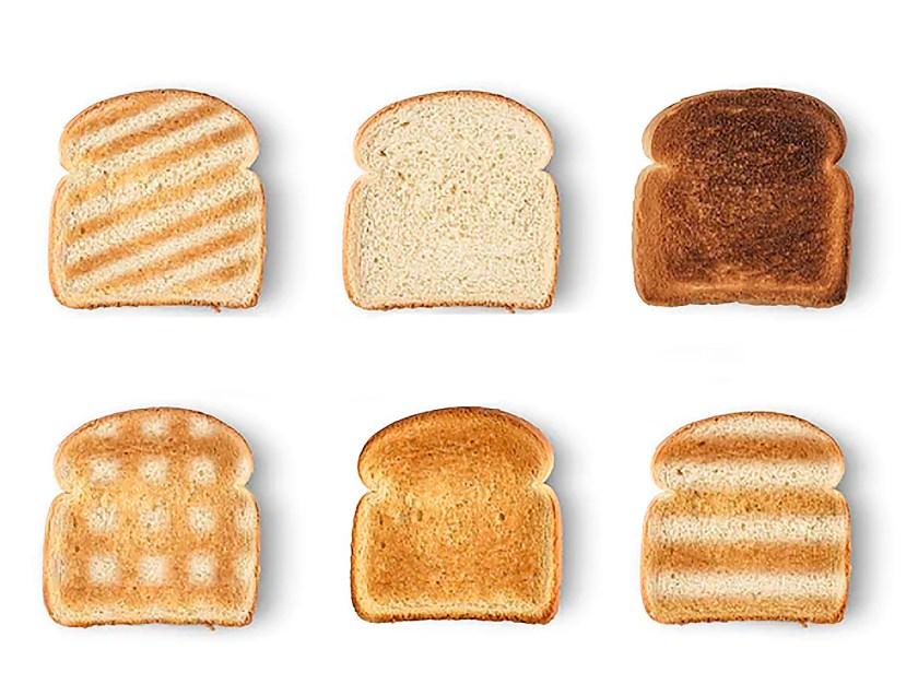 El pan tostado en la cocina