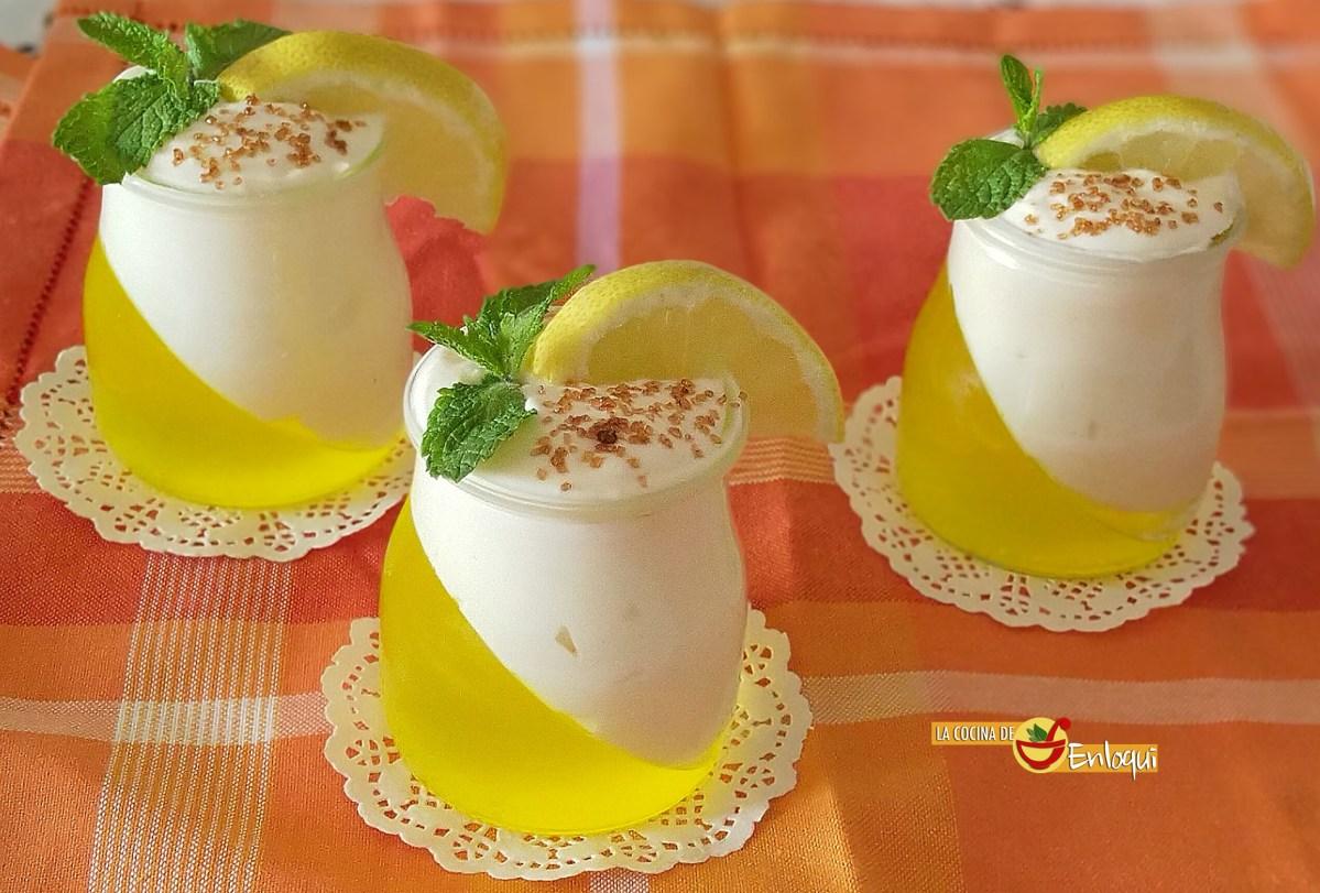 Vasitos de limón bicolor