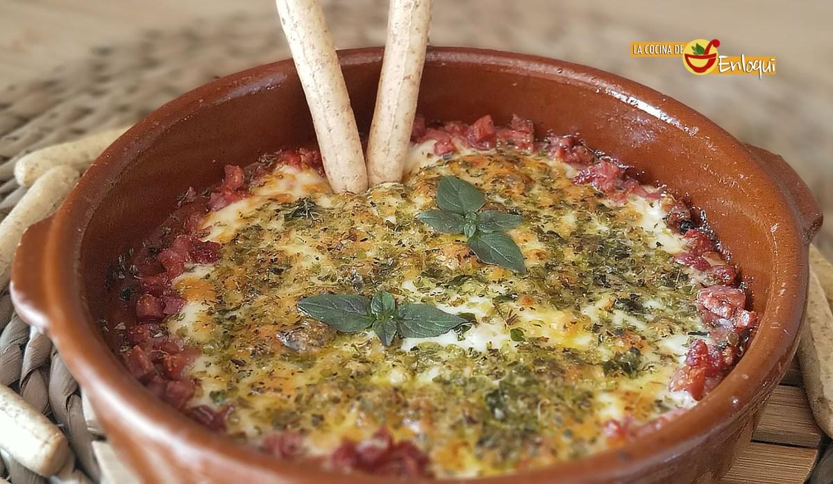 Provolone con jamón (sin horno)
