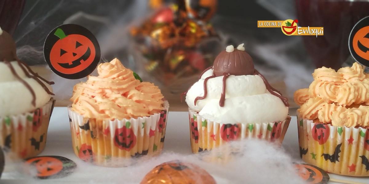 Cupcakes de zanahoria para Halloween