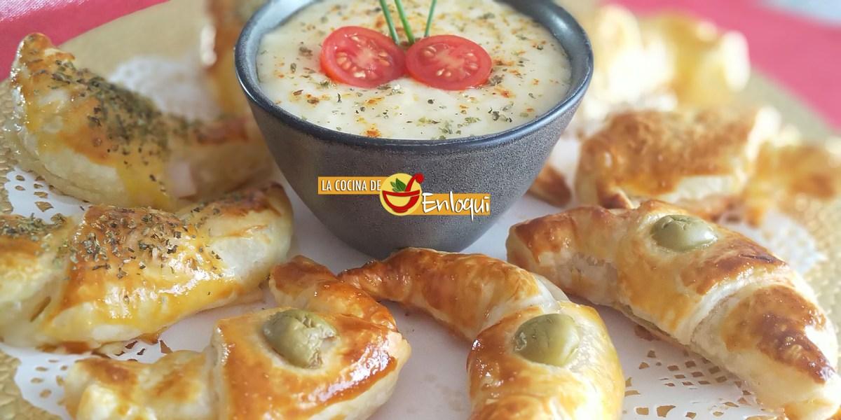 Croissants surtidos saladitos de hojaldre