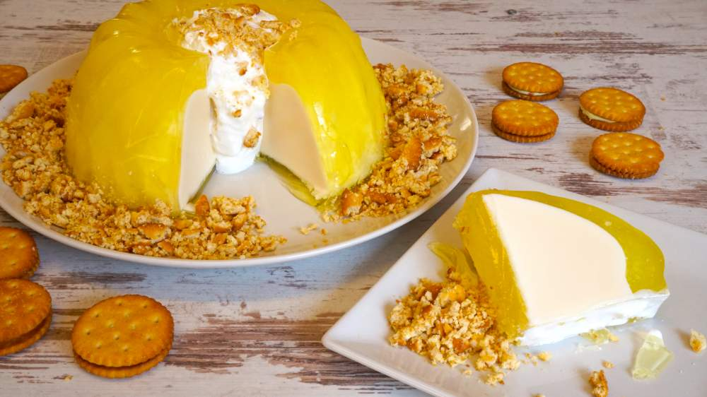 gelatina mágica de limón