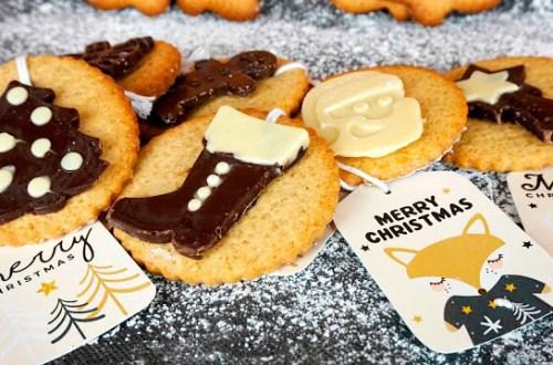 galletas de navidad con jengibre y avena