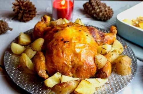 pollo relleno de Navidad
