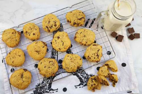 cookies de calabaza con chips de chocolate