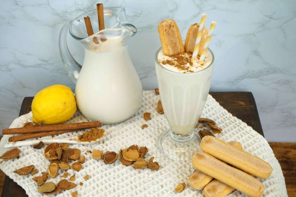leche merengada sin lactosa de almendras