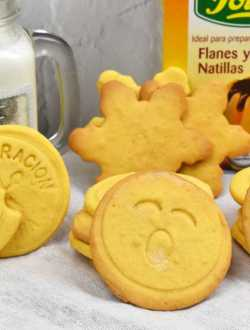 galletas de natillas con sobre de flan