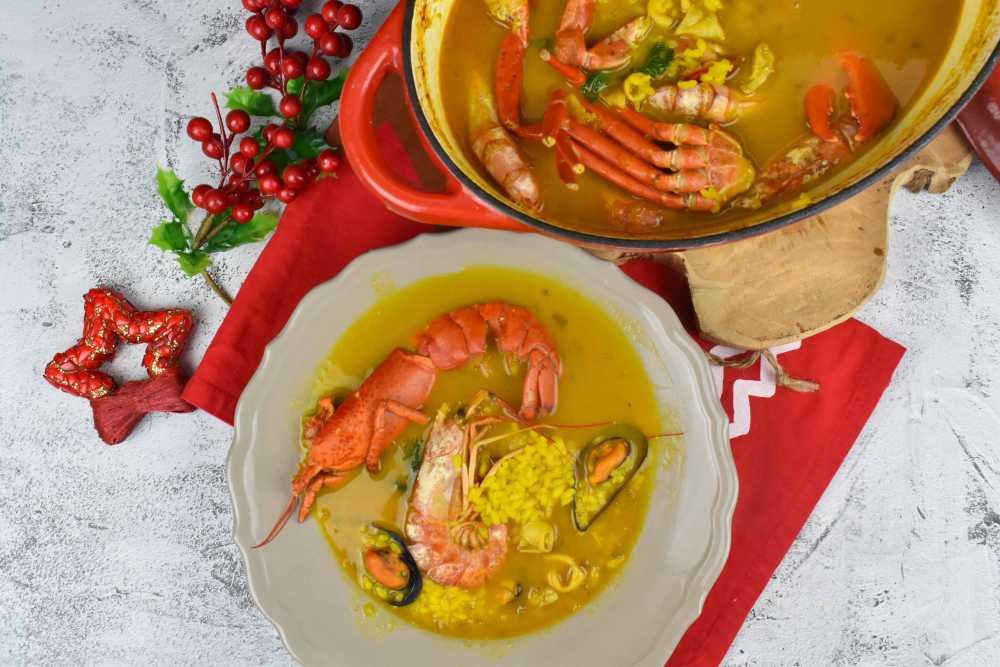 arroz caldoso con marisco y bogavante