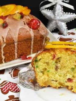 bund cake navideño con fruta confitada