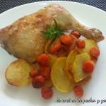 Cuartos traseros de pollo al horno