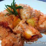 Solomillo de pavo con salsa de almendras