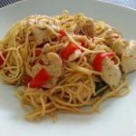 Fideos chinos con salsa de soja