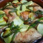 Cuartos traseros y contramuslos de pollo asados al limón