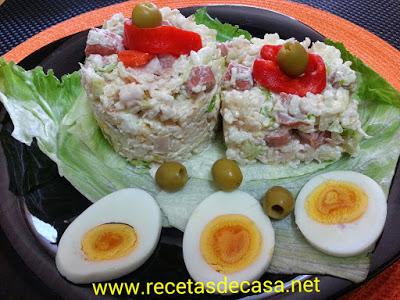 ensalada de arroz mayonesa cocina facil