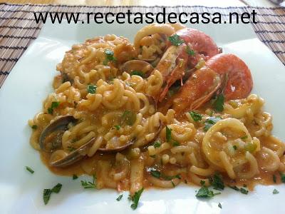 receta de fideua de pescado cocina facil