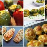 Seis gratinados de verduras rellenas