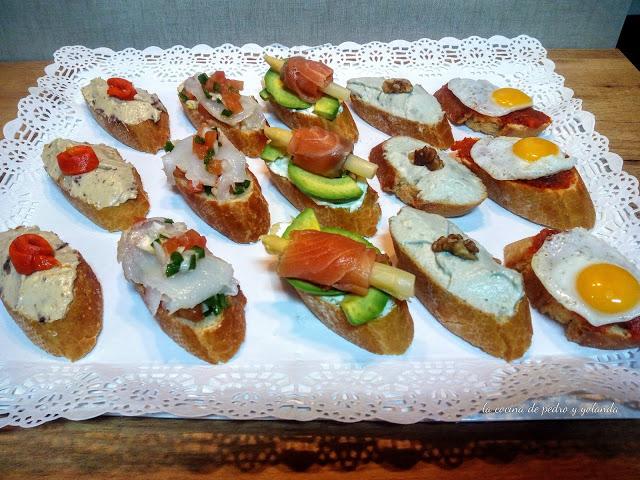 Montaditos Tostas Y Canapes Variados La Cocina De Pedro Y Yolanda - Canapes-frios-recetas
